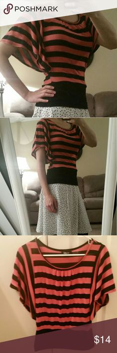 Striped blouse Striped blouse *Size S * Fitted at the waist * Flowy sleeves *Very comfy *From a smoke free home *Will accept offers Iz Byer Tops Blouses