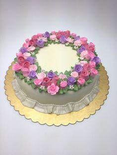 Steam buttercream cake