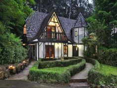 A Tudor mansion in the Dandenongs: it's the cottage of my dreams *dreamy sigh* Villas, Fairytale House, Storybook Homes, Modern Contemporary Homes, House Deck, Tudor House, English House, Amazing Buildings, Cozy Cottage