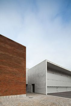 The fire station in Santo Tirso, Portugal