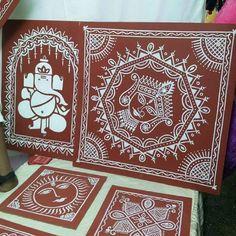 Home Design Idea 2017 - Best Free Home Design Idea & Inspiration Madhubani Art, Madhubani Painting, Worli Painting, Fabric Painting, Indian Arts And Crafts, Vase Crafts, Indian Folk Art, India Art, Art N Craft