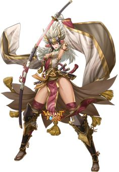 Valiant Force truly original tactics game for everyone. Singapore best mobile game into a visually stunning fantasy world of magic and epic battles. Anime Warrior, Warrior Girl, Fantasy Warrior, Dnd Characters, Fantasy Characters, Female Characters, Anime Fantasy, Fantasy Girl, Armor Concept