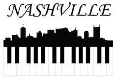 Illustration of Nashville music vector art, clipart and stock vectors. Nashville City, Nashville Skyline, Nashville Music, Skyline Silhouette, Silhouette Vinyl, Skyline Tattoo, Reclaimed Barn Wood, Barnwood Ideas, Vinyl Wall Art
