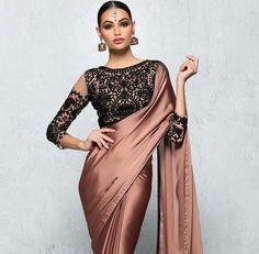 lace effect sari blouse