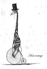 Image result for black and white giraffe drawing