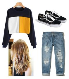 """casual"" by sanzianamaria-cusa on Polyvore featuring Hollister Co. and J.Crew"