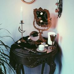 Post-Samhain & Post-Full Moon altar for protection & reflection 🌕🗡🕷 is anyone else missing October vibes already?