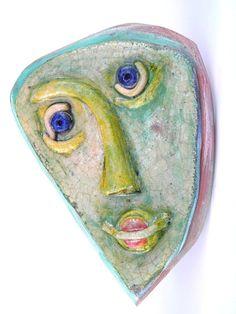 Ceramic Head Wall Art by 99heads on Etsy, $23.00