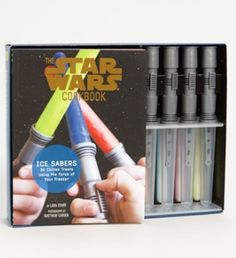 Star Wars lightsaber ice-pop molds and cookbook http://rstyle.me/n/nd4b5r9te