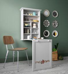 Home affaire Wandregal »May« mit Klapptisch, platzsparend in Küche, Speisezimmer oder Arbeitsraum