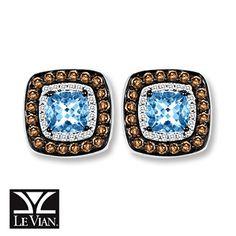 I'm just saying...it IS my birthstone :) Aquamarine Earrings 1/2 ct tw Diamonds 14K Vanilla Gold™