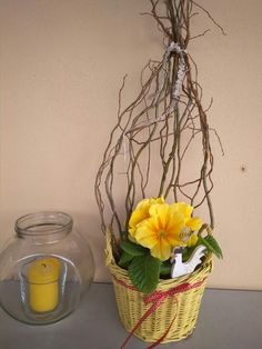 Glass Vase, Gardening, Spring, Floral, Home Decor, Easter Activities, Make Your Own, Flowers, Decoration Home