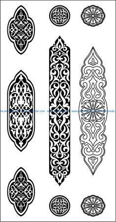 Islamic Art Pattern, Pattern Art, Pattern Design, Vector Pattern, Cnc Cutting Design, Laser Cutting, Motifs Islamiques, Jaali Design, Ornament Drawing
