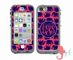Monogrammed Lilly Pulitzer Inspired LifeProof Case Skin Decal - iPhone 6 Plus…