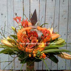 oranje k(r)oningsboeket van Peter Manders bloemist in Lemmer  www.petermanders.nl