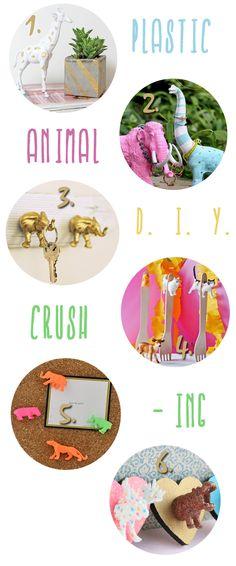 DIY Plastic Animal Crush, chic and fun, so cute ! #spray paint #diy #craft #trending