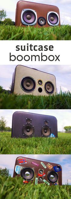 Build a great sounding boombox out of an old suitcase!