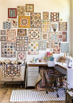 Sew Thankful Sunday, June 2020 - The Crafty Quilter Sewing Room Decor, Sewing Room Organization, Sewing Spaces, Sewing Rooms, Small Quilts, Mini Quilts, Appliqué Quilts, Quilting Room, Quilting Tips