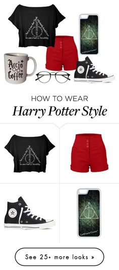 """Harry Potter #1/3"" by pinksniper on Polyvore featuring Converse and CellPowerCases"