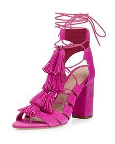 S1FTZ Loeffler Randall Luz Suede Lace-Up Sandal