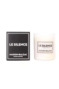 le silence beeswax candle.