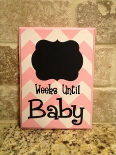 Pink Baby Chevron Chalkboard Countdown Calendar READY TO SHIP via Etsy---do in grey until gender is known Vinyl Crafts, Vinyl Projects, Countdown Calendar, Baby Countdown, Cute Babies, Baby Kids, Baby Messages, Getting Ready For Baby, Silhouette Cameo Projects