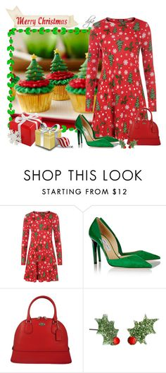 """Christmas"" by dgia ❤ liked on Polyvore featuring Wilton, WearAll, Jimmy Choo and Coach"