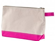 Pink make-up bag