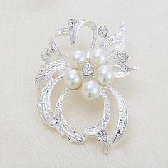 Beautiful Alloy And Imitation Pearl Brooches – AUD $ 6.74