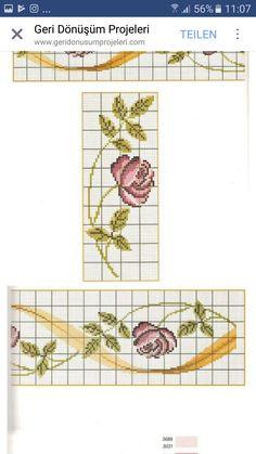 Towels, Cross Stitch, Crochet Lace Edging, Cross Stitch Flowers, Cross Stitch Alphabet, Cloths, Cross Stitch Embroidery, Crossstitch, Hand Towels