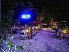 BBQ dinner in the garden  #Maldives #travel #thulusdhoo #indianocean #outdoor #catering #palms
