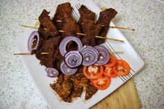 Nigerian Suya is a spicy, tasty, roasted meat snack. It is a popular street food, originated from the northern part of Nigeria and popular amongst everyone. Nigerian Food, Roasted Meat, Tasty, Yummy Food, Savory Snacks, Street Food, Nom Nom, Delish, Dishes