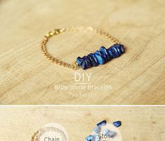 Tutorial how to make this bracelet, on website Head Pins, Bracelet Tutorial, Stone Bracelet, Diy Tutorial, Jewelry Making, Beaded Bracelets, Pendants, Chain, Beads