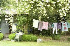 Hanging out the washing - before it became socially unacceptable in some neighborhoods!