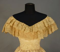 In the Swan's Shadow: Moire silk gown, 1855-60