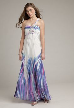 Blue Multicolor Purple White $ - $150 and under A-line Beading Camille La Vie & Group USA Bridesmaids Chiffon Floor One-Shoulder Sweetheart Wedding Bridesmaids Photos & Pictures - WeddingWire.com