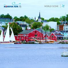 [World Scene] Lunenburg, Nova Scotia, Canada. #koreanair