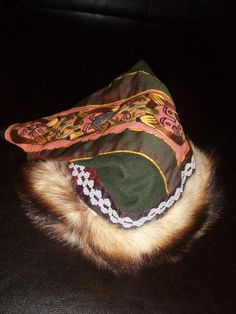 Rus Viking cap with Mammen embroidery and Birka silver braid    Vibeke