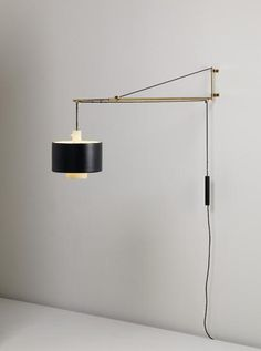 Amazing Gaetano Scolari; Brass And Painted Metal Wall Mounted Lamp For Stilnovo,  C1958.
