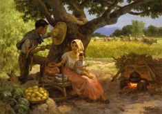 """Fernando Amorsolo y Cueto, Filipino painter, was an important influence on contemporary Filipino art and artists, even beyond the so-called """"Amorsolo school"""". Subjects: Philippine Genre, historical and society Portraits. Arte Filipino, Filipino Culture, Filipino House, Munier, Philippine Art, Philippines Culture, Pictures To Draw, Asian Art, Painting Inspiration"""