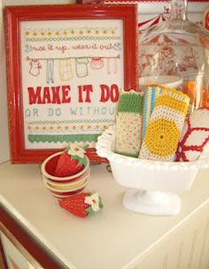 Vintage style sampler:  Use it up, wear it out, make it do, or do without! Buy pattern at Sarah Jane Studio