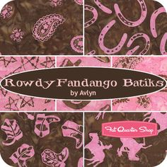 Rowdy Fandango Batiks Fat Quarter Bundle Avlyn Fabrics