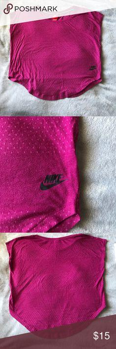 "Nike active Top sz. S EUC | bust: 21"" length: 18-22""| is a magenta color Nike Tops Tees - Short Sleeve"