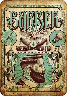 Saved by Barbon Barbas (elbarbon). Discover more of the best Ilustration, Shane, Draw, and Barbershop inspiration on Designspiration Graphic Design Illustration, Graphic Art, Illustration Art, Vintage Graphic, Barber Poster, Shaving Cut, Barber Man, Barber Chair, Style Hipster