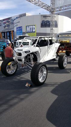 Polaris Utv, Polaris Ranger, Can Am, Bike Cart, Toy Trucks, Lifted Trucks, Custom Golf Carts, Off Road Tires, Atv Riding