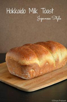 Hokkaido Milk Toast, using tangzhong (flour paste) method 湯種法 | Divyas Culinary Journey