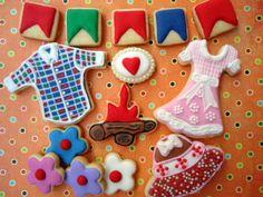 Cookies Festa Junina by Cookieria by Margaret, biscoito decorado, bolacha decorada
