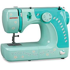 Because the three sewing machines I own are NOT Hello Kitty themed, I must have this one.  MUST!!!