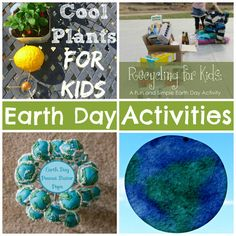 Earth Day Activities to do with Kids that are easy and teach about recycling, repurposing, and how to take care of the Earth.