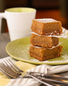 These Pumpkin Butter Quick Bread Bars are loaded with fall flavors and combine a tender, spiced-cookie bottom with a delicious pumpkin butter and cream cheese topping.